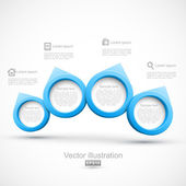 Blue circle banners 3D — Stock Vector