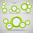 Set of green circle banners — Stock Vector