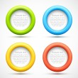 Set of colorful circle banners — Stock Vector