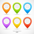 Set of colorful circle pointers — Stock Vector