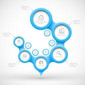 Blue modern business circles — Stock Vector