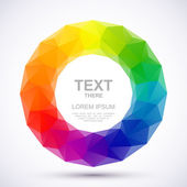 Low-poly color wheel — Stock Vector
