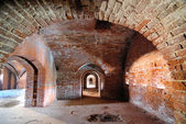 Tunnel in fort — Stock Photo