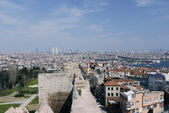 Byzantine city walls silivrikapi Istanbul, Turkey — Stock Photo