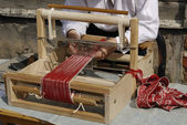 An old fashioned loom — Stock Photo