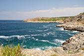 Coastine krajobraz w salento, apulia. włochy — Zdjęcie stockowe