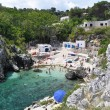 Cala Acquaviva coastline and beach — ストック写真