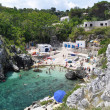 Cala Acquaviva coastline and beach — Stockfoto