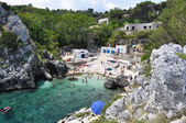 Cala Acquaviva coastline and beach — Stok fotoğraf