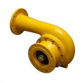 Yellow pipe-adapter — Stock Photo
