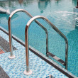 Stock Photo: Brilliant hand-rail leaders in pool