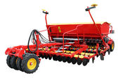 Red modern seeder — Stock Photo