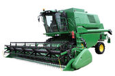 Green modern combine — Stock Photo