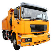 The yellow lorry — Stock Photo