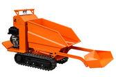 Compact orange loader — Stock Photo