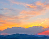 Colorful sky after sunset — Stock Photo