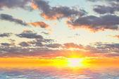 日落的天空背景 — 图库照片