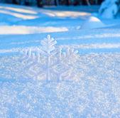 Dekorativní vločku sněhu — Stock fotografie