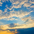 Stock Photo: Sky background on sunset