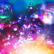 Abstract background from bubbles on water  — Stockfoto