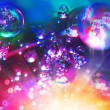 Abstract background from bubbles on water — Stock Photo