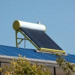 Solar water heater — Стоковое фото