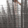 Stock Photo: Building of Constructions from Metal Beams
