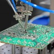 Stock Photo: Solder chip on PCB