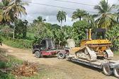 Transportation bulldozer — Foto Stock