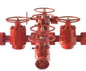 Valves high-pressure pipe — Stock Photo