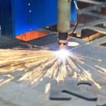 Laser cutting of metal — Stock Photo #49056777
