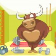 Royalty-Free Stock Vector Image: Cartoon Character Bull