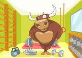 Cartoon Character Bull — Stock Vector