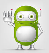 Cute Robot — Vector de stock