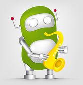 Cute Robot — Stock Vector