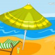 Beach Cartoon — Stock Vector