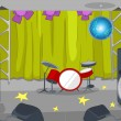 Постер, плакат: Rock&Roll Stage Cartoon