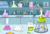 Chemisch laboratorium — Stockvector