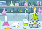 Kemiskt laboratorium — Stockvektor