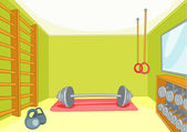 Gym Room — Stock Vector
