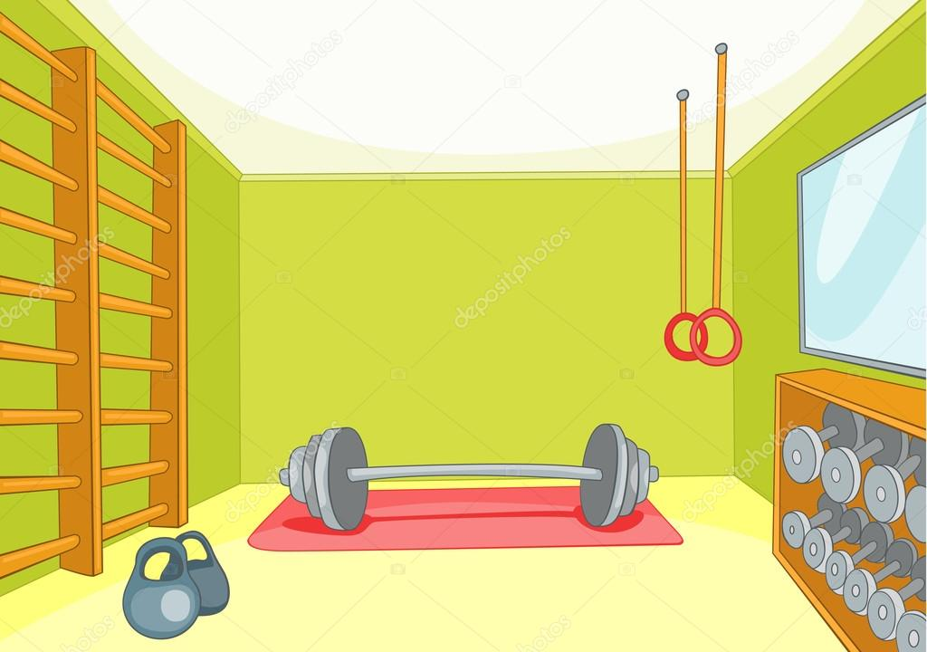 Gym room — stock vector rastudio