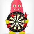Funny Monster. Darts. — Stock Vector