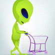 Funny Alien — Stock Vector
