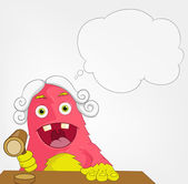 Funny Monster. Judge. — Stock Vector