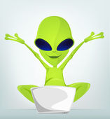 Cartoon_Character_ALIEN_032_CS5 — Stock Vector