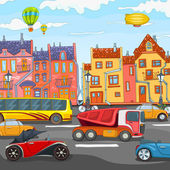 City Cartoon. — Vector de stock