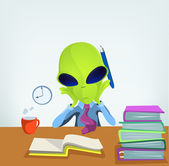 Divertido alien — Vector de stock
