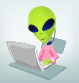 Funny Alien — Stock Vector