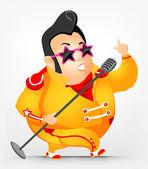 Cheerful Chubby Man — Stock Vector