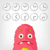 Funny Monster. — Stock Vector